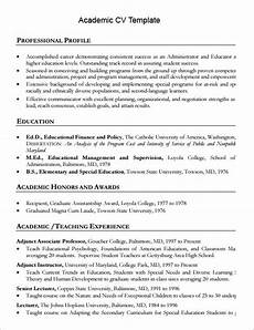 academic cv template clever hippo