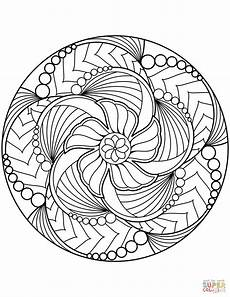 flower mandala coloring page free printable coloring pages