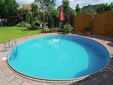 Stahlwand Pool Rund Paradies Pool