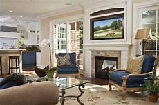 furniture on either side fireplace living room traditional