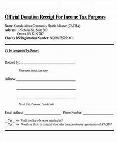 free 7 tax receipts for donation in ms word pdf