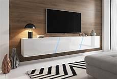tv lowboard quot space quot wei 223 hochglanz lack mit led 240 cm