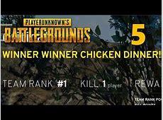 [5] WINNER WINNER CHICKEN DINNER!!! (PlayerUnknown's