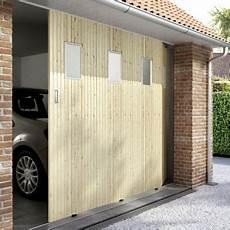porte de garage coulissante bois porte de garage coulissante sapin 240 x 200 hublots
