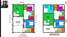 30 215 40 west face house plan map naksha walk through in 3d youtube