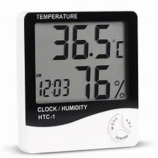 Image Clock Temperature Humidity Meter Electronic by Lcd Digital Electronic Hygrometer Thermometer Measuring