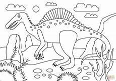 spinosaurus dinosaur coloring page free printable