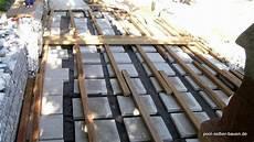 bauanleitung holzterrasse selber bauen die unterkonstruktion holzterrasse auf ihnen kann auch leichter die