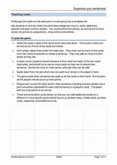 punctuation worksheets ks3 with answers 20814 ks3 word classes teachit