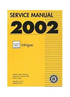 small engine maintenance and repair 2002 oldsmobile intrigue free book repair manuals 2002 oldsmobile intrigue factory service manual 2 volume set