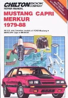 car repair manuals online free 1994 mercury capri parental controls chilton ford mustang capri merkur 1979 1988 repair manual