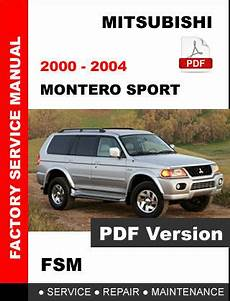 free car manuals to download 2005 mitsubishi montero security system mitsubishi 2000 2001 2002 2003 2004 montero sport service repair workshop manual service