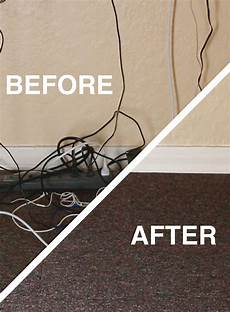 go from a mess to clean how to hide your desk cords