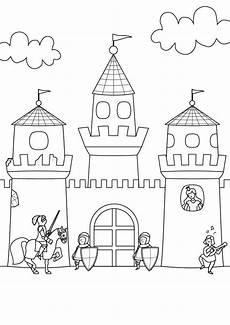 Malvorlage Ritterburg Mit Drachen Ausmalbild Ritter Und Drachen Ritterburg Zum Ausmalen