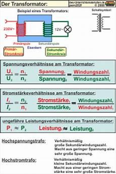 pem202 formeln zum transformator