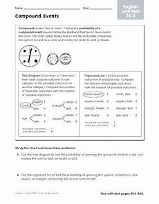 worksheets on probability for grade 8 5854 probability of compound events worksheet with answer key briefencounters