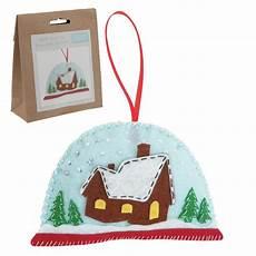 kit boule à neige kit feutrine sujet pour sapin boule de neige coutureo
