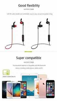 Langsdom Bs85 Sports Bluetooth Stereo Bass by New Langsdom Bs85 In Ear Sports Bluetooth Stereo Bass