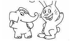 Ausmalbilder Elefant Und Hase Ausmalbilder Und Malvorlagen Elefant Malvorlage Gratis