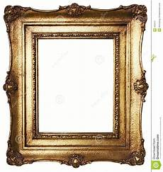 picture frame gold path included stock photos image