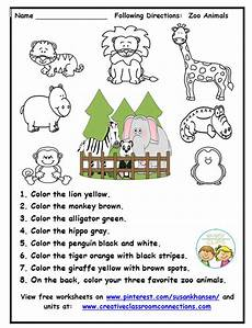 this zoo worksheet provides practice for students to read