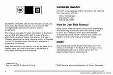 online car repair manuals free 2006 cadillac dts parking system cadillac dts professional 2006 1 g owners manual