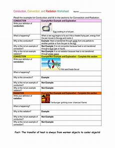 science heat worksheets 12221 conduction convection and radiation worksheet thermal energy transfer energy transfer