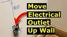 moving electrical outlet up a wall how to move a light switch