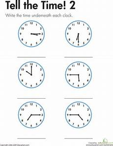 telling time worksheets 2nd grade common 3615 telling time with clocks education
