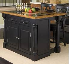 black oval granite tops kitchen island with seating 3 pc kitchen island set in black finish http