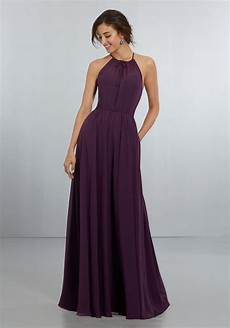 elegant chiffon bridesmaids dress with softly draped bodice style 21572 morilee