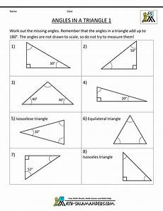 free printable geometry sheets angles in a triangle 1 geometry triangles pinterest