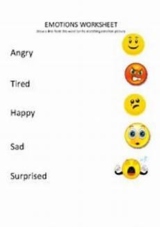 emotions matching worksheet english teaching worksheets emotions
