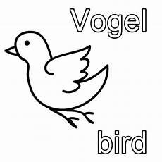 Vogel Malvorlagen Kostenlose Malvorlage Englisch Lernen Vogel Bird Zum