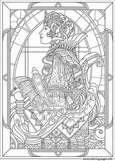 nouveau butterfly coloring page coloring home