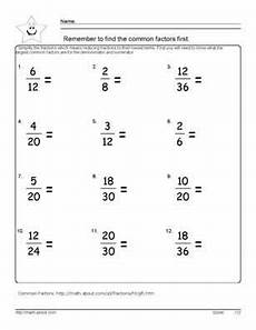 9 worksheets simplifying fractions for 6th graders