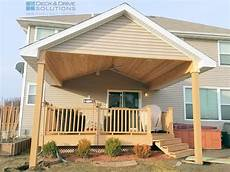 how to build a roof over deck new roof over existing deck des moines deck builder deck and solutions