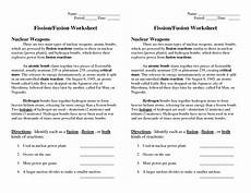 physical science fission fusion worksheet 13093 geophysical science morel science