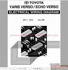toyota yaris echo verso 1999 electrical wiring diagram auto repair manual heavy