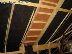 pose ecran sous toiture renovation combinaison de 2 isolations pour comble avec fermettes
