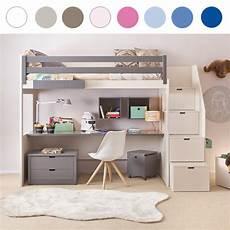 hochbett mit schubladen treppe asoral hochbett loft xl liso mit treppe schreibtisch 4
