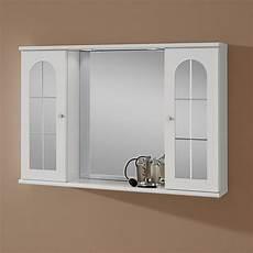 specchio contenitore da bagno specchio bagno contenitore 95 cm con luce e due ante kv