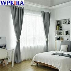 Gardinen Modern Schlafzimmer - modern solid thick curtain light grey cloth for living