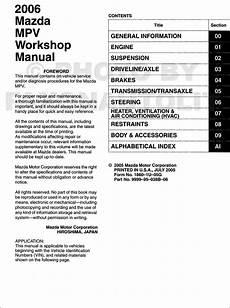 car repair manuals download 2006 mazda mazda6 electronic toll collection 2006 mazda mpv repair shop manual original