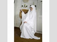White wedding Khimar Modern Burqa Bridal Burka Muslim Cape