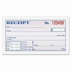 dc2501 money rent receipt books 50 sheet s tape bound 2 part 2 75 quot 5 37 quot form
