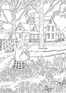 nature coloring pages for adults free printable