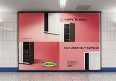 ikea uses poorly assembled billboards to admit its