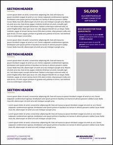 caign fact sheets uw brand