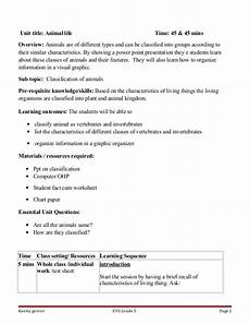animal kingdom worksheets for kindergarten 14201 lesson plan on classification of animals